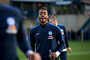 Peterborough United forward Ivan Toney (17) warming up before the EFL Sky Bet League 1 match between Wycombe Wanderers and Peterborough United at Adams Park, High Wycombe, England on 3 November 2018.