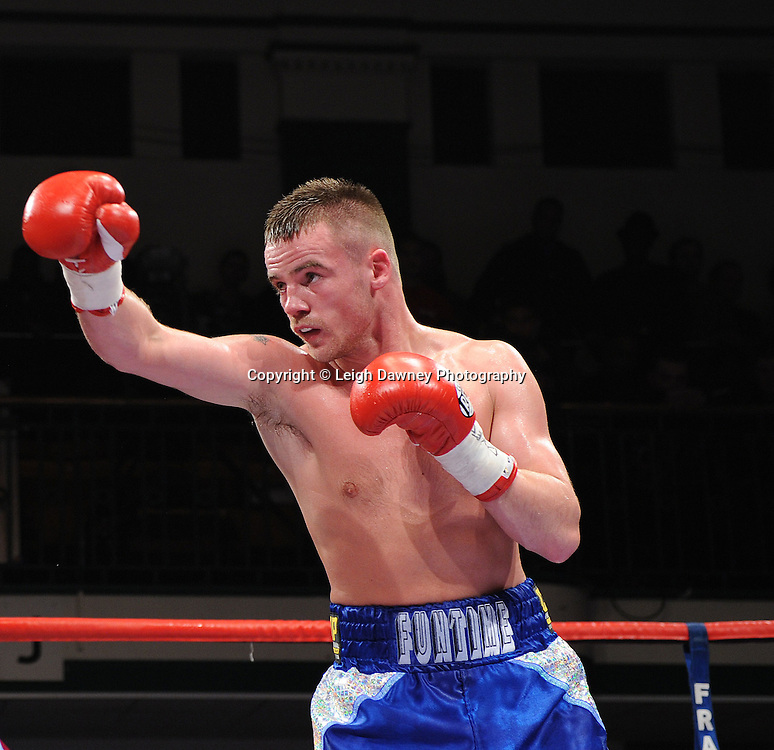 Light Welterweight Frankie Gavin fights Michael Lomax at York Hall, Bethnal Green, London on the 19th February 2011. Frank Warren Promotions. Photo credit © Leigh Dawney.