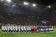 Teams line up during the International Friendly match between Germany and England at Signal Iduna Park, Dortmund, Germany on 22 March 2017. Photo by Phil Duncan.