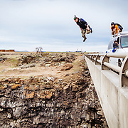 Speeding van BASE Jump of an unknown bridge