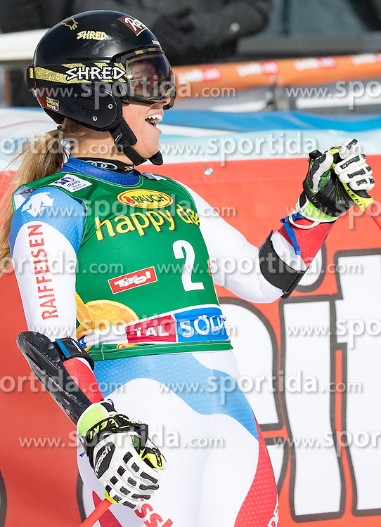 22.10.2016, Rettenbachferner, Soelden, AUT, FIS Weltcup Ski Alpin, Soelden, Riesenslalom, Damen, 2. Durchgang, im Bild Lara Gut (SUI, 1. Platz) // reacts after her 2nd run of ladies Giant Slalom of the FIS Ski Alpine Worldcup opening at the Rettenbachferner in Soelden, Austria on 2016/10/22. EXPA Pictures © 2016, PhotoCredit: EXPA/ Johann Groder
