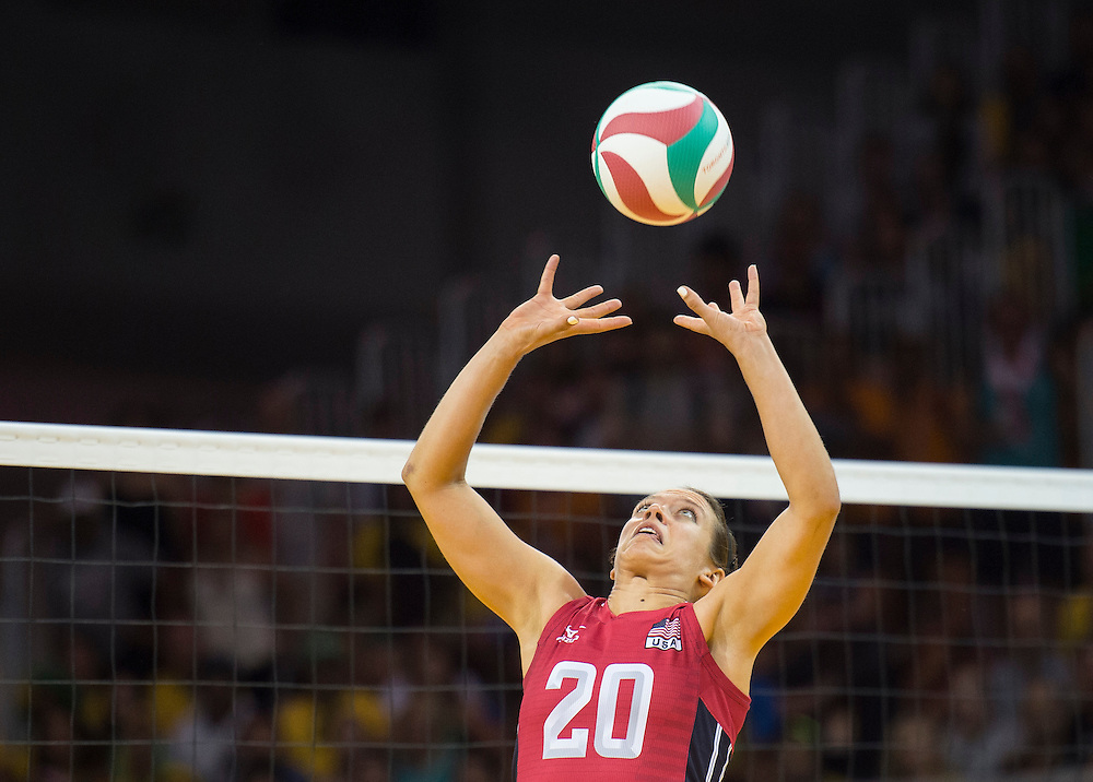 Women's volleyball finals-USA vs. Brazil- Janna Haggland-USA during competition at the 2015 PanAm Games in Toronto.