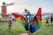 Already filling up and the partying begins - The 2019 Glastonbury Festival, Worthy Farm. Glastonbury, 26 June 2019