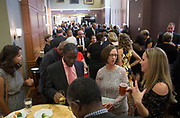 Guest mingle before the start of the Alumni Awards Gala on October 6, 2017.