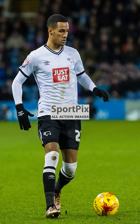 Derby County midfielder Thomas Ince (23) on the ball in the Championship match between Burnley and Derby County<br /> (c) John Baguley | SportPix.org.uk