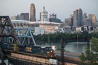 Cincinnati Ohio Bridge and Skyline