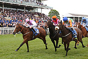 AGINCOURT (6) ridden by Daniel Tudhope and trained by David OMeara winning The British EBF Frank Whittle Partnership Fillies Stakes over 7f (£20,000)   during the third day of the Dante Festival at York Racecourse, York, United Kingdom on 17 May 2019.