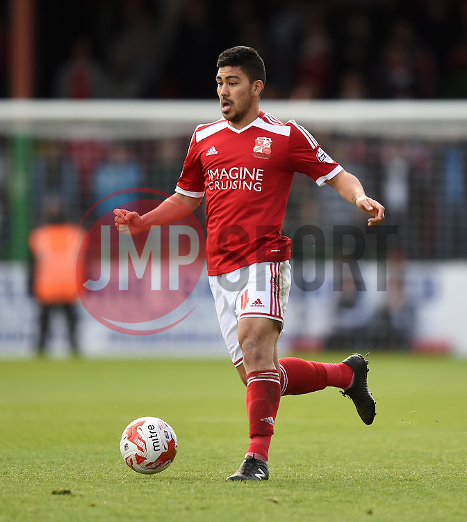Swindon Town's Massimo Luongo - Photo mandatory by-line: Paul Knight/JMP - Mobile: 07966 386802 - 11/04/2015 - SPORT - Football - Swindon - The County Ground - Swindon Town v Peterborough United - Sky Bet League One