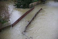The Thames path at Goring on Thames, Oxfordshire, United Kingdom, Tuesday, 11th February 2014. Picture by i-Images