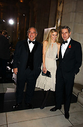 Left to right, PHILIP GREEN, LAURA BAILEY and STUART ROSE at the British Fashion Awards 2006 sponsored by Swarovski held at the V&A Museum, Cromwell Road, London SW7 on 2nd November 2006.<br />