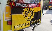Germany England half half scarf and Borussia Dortmund flag during the International Friendly match between Germany and England at Signal Iduna Park, Dortmund, Germany on 22 March 2017. Photo by Phil Duncan.