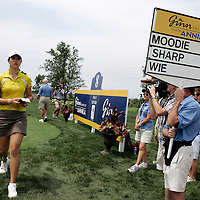 MT. PLEASANT, SC, May 31, 2007: Michelle Wie withdrew with two holes still to play after shooting an 86 and coming perilously close to being prohibited from playing the rest of the year on the LPGA tour.