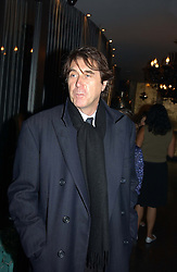 Singer BRYAN FERRY at Tatler Magazine's Summer Party held at the Baglioni Hotel, 60 Hyde Park Gate, London SW7 on 1st July 2004.