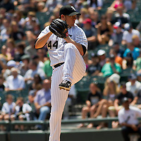 Chicago, IL - June 05, 2011:  Jake Peavy (44) pitches to the 2nd place visiting Detroit Tigers at U.S. Cellular Field on June 05, 2011 in Chicago, IL.