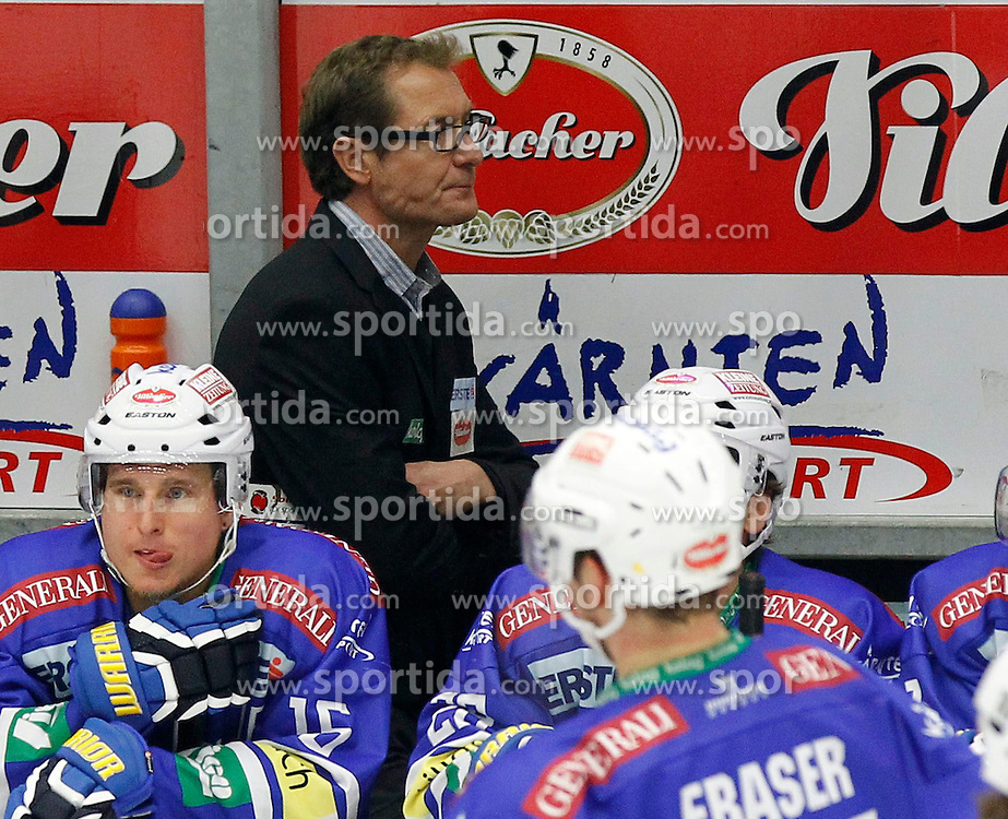 27.10..2013, Stadthalle, Villach, AUT, EBEL, EC VSV vs Moser Medical Graz99ers, 28. Runde, im Bild Hannu Jaervenpaeae (VSV,Trainer) // during the Erste Bank Icehockey League 28th round between EC VSV vs Moser Medical Graz99ers, at the City Hall, Villach, Austria, 2013/10/27, EXPA Pictures © 2013, PhotoCredit: EXPA/ Oskar Hoeher