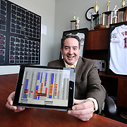 Mike Meszaros, owner of DNA Sports Center and creator of eSoft Planner, poses for a portrait in the DNA facilities on Monday, January 27, 2014 in Cincinnati, Ohio.  The eSoft Planner software was develop to allow small business to manage their operations. (Photo by Leonardo Carrizo)