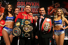 October 14, 2015: Gennady Golovkin vs David Lemieux Press Conference
