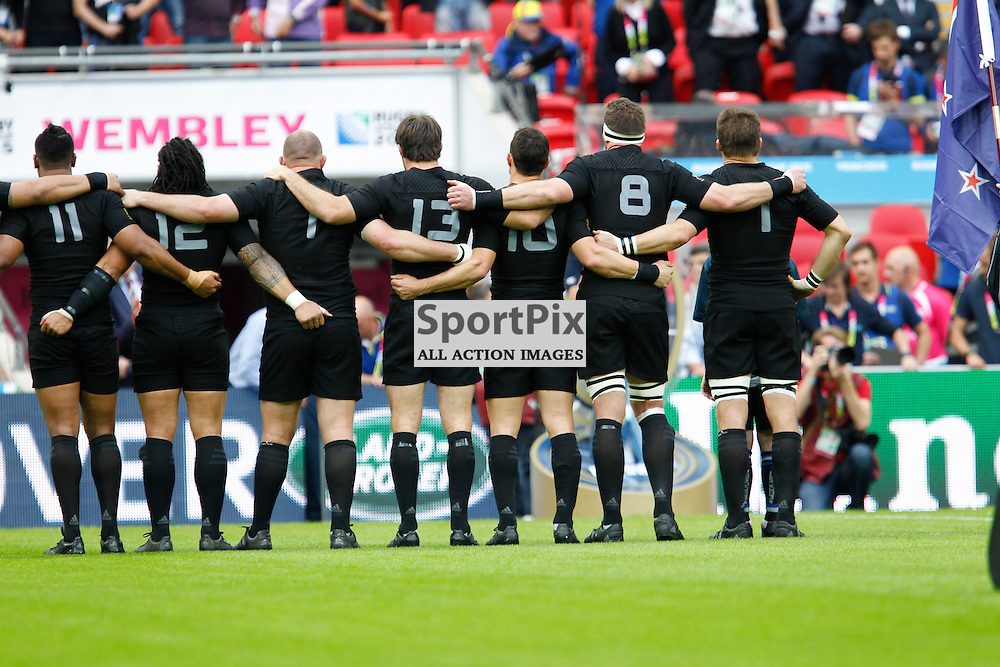 WEMBLEY, ENGLAND - SEPTEMBER 20:  New Zealand at the 2015 Rugby World Cup Pool C match between New Zealand and Argentina at Wembley Stadium on September 20, 2015 in London, England. (Credit: SAM TODD | SportPix.org.uk)