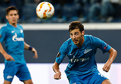 October 4, 2018 - Saint Petersburg, Russia - Aleksandr Erokhin (R) of FC Zenit Saint Petersburg heads the ball during the Group C match of the UEFA Europa League between FC Zenit Saint Petersburg and SK Sparta Prague at Saint Petersburg Stadium on October 4, 2018 in Saint Petersburg, Russia. (Credit Image: © Mike Kireev/NurPhoto/ZUMA Press)