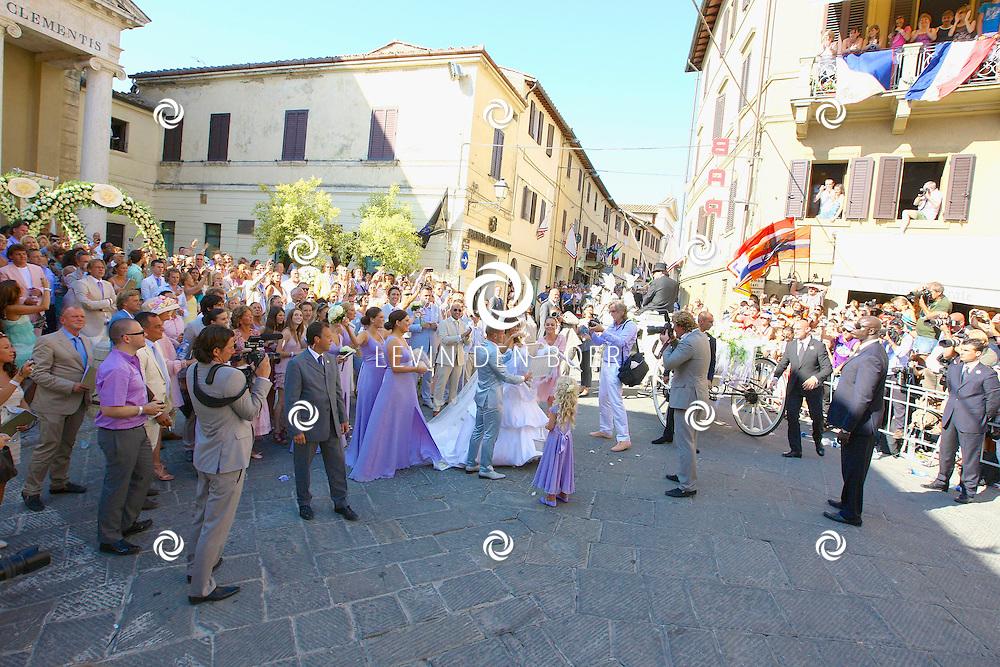 SIENA - De trouwerij van Wesley & Yolante in Castel Monastero te Italië. FOTO LEVIN DEN BOER - PERSFOTO.NU