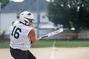 Brittany Short bats during a game against Gibbstown held at the Clayton Little League Complex Thursday July 7, 2011.