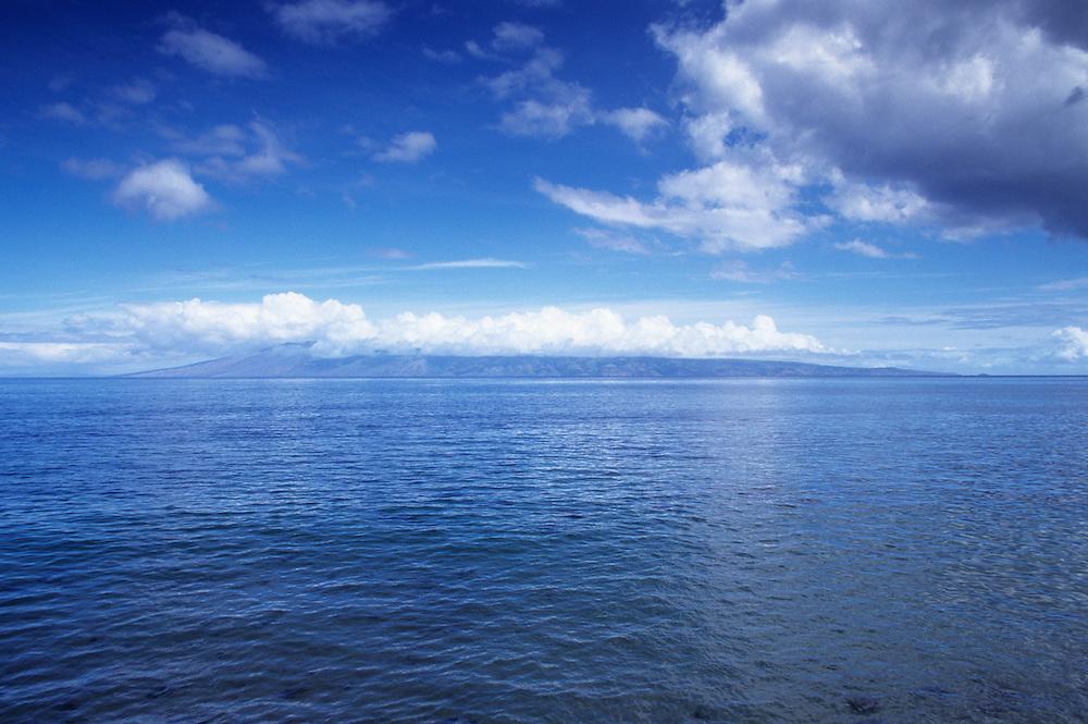 Hawaii, Molokai, view of island from Maui