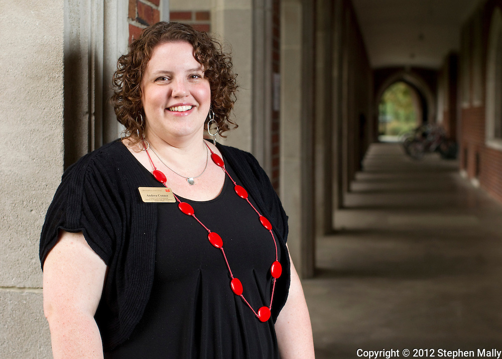 Andrea Conner, Assistant Dean of Students and Director of Residence Life and Orientation, at Grinnell College in Grinnell, Iowa on Saturday, August 25, 2012.