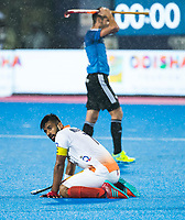 BHUBANESWAR -  Hockey World League finals , Semi Final . Argentina v India. Manpreet Singh (Ind) after the lost match.   COPYRIGHT KOEN SUYK