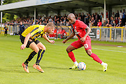 Anthony Straker during the Friendly match between Harrogate Town and York City at Wetherby Road, Harrogate, United Kingdom on 25 July 2015. Photo by Simon Davies.