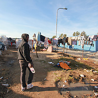 The living conditions of the African migrant workers are horrendous. During the winter months, when thousands arrive in the hope to find work, slum cities develop.