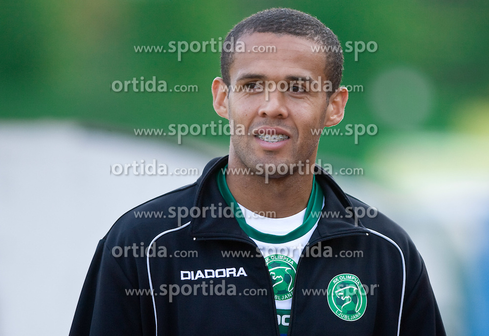 Leonardo Bonifacio of Olimpija  at football match between NK Olimpija vs Hit Gorica in 11th Round of Prva liga 2009 - 2010,  on September 27, 2009, in ZSD Ljubljana, Ljubljana, Slovenia.  (Photo by Vid Ponikvar / Sportida)