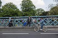 France. Paris. 9th district. Caulaincourt street crossing Montmartre cemetery Paris france  / la rue Caulaincourt , passe au dessus du cimetere de Montmartre