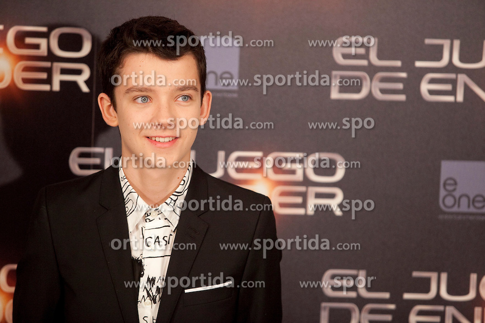 03.10.2013, Villa Magna Hotel, Madrid, ESP, Enders Game Photocall, im Bild Actor Asa Butterfield poses // during a photocall for the film Ender's Game, Villa Magna Hotel, Madrid, Spain on 2013/10/03. EXPA Pictures © 2013, PhotoCredit: EXPA/ Alterphotos/ Ricky Blanco<br /> <br /> ***** ATTENTION - OUT OF ESP and SUI *****