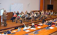 UTRECHT - KNHB Hockeycongres 2016. Workshop over arbitrage, scheidsrechter,  Foto Koen Suyk.