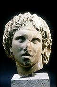 Alexander (III of Macedon) the Great (c356-323 BC). Portrait bust. Pella Museum