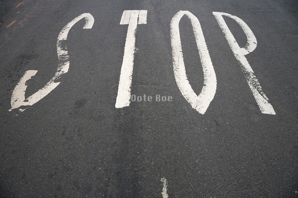 road stop signal on an asphalt