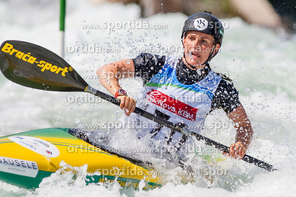 Rosalyn Lawrence of Australia during Kayak(K1) Women final race at ICF Canoe Slalom World Cup Sloka 2013, on August 18, 2013, in Tacen, Ljubljana, Slovenia. (Photo by Urban Urbanc / Sportida.com)