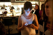 MADDIE EVANS, Leaving dinner for Kate Phelan given by Alex Shulman and Mary Homer. Riding House Cafe. Great Titchfield st. London. 20 September 2011. <br /> <br />  , -DO NOT ARCHIVE-© Copyright Photograph by Dafydd Jones. 248 Clapham Rd. London SW9 0PZ. Tel 0207 820 0771. www.dafjones.com.