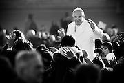 Vatican City dec 16th 2015, weekly general audience. In the picture pope Francis