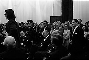 24/10/1971<br /> 10/24/1971<br /> 24 October 1971<br /> Opening of ROSC 1971 art exhibition at the RDS, Ballsbridge, Dublin. Picture shows William Belton of the National College of Art speaking at the opening. Mr Belton was stating the grievances of the students in the College. Mr Brian Lenihan TD, Minister for Transport and Power, and formerly Minister for Education can be seen grinning as he comes under attack for his policies regarding the College when he was in charge of it's affairs.