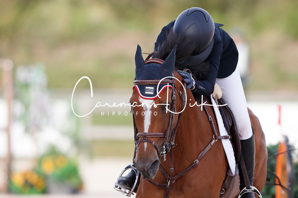 De Balanda Rose, FRA, Tzara Belin<br /> Children European Championships Jumping <br /> Samorin 2017&copy; Hippo Foto - Dirk Caremans<br /> 12/08/2017
