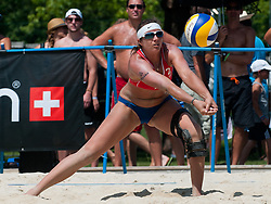 Misty May-Treanor of USA at A1 Beach Volleyball Grand Slam tournament of Swatch FIVB World Tour 2011, on August 3, 2011 in Klagenfurt, Austria. (Photo by Matic Klansek Velej / Sportida)