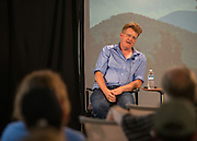 """Authors@Alden: Robert Gipe, author and illustrator of """"Trampoline."""" Photo by Kaitlin Owens"""