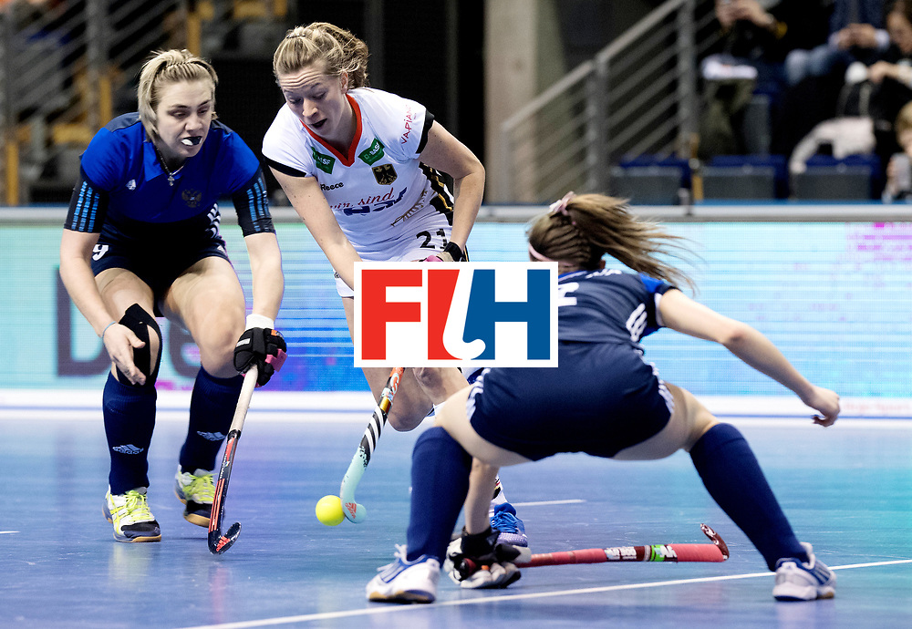 BERLIN - Indoor Hockey World Cup<br /> Women: Germany - Russia<br /> foto: Franzisca Hauke.<br /> WORLDSPORTPICS COPYRIGHT FRANK UIJLENBROEK
