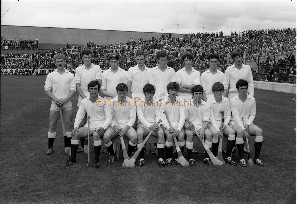 06/09/1970<br /> 09/06/1970<br /> 06 September 1970<br /> All Ireland Minor Hurling Final Cork v Galway at Croke Park, Dublin. The Galway team.