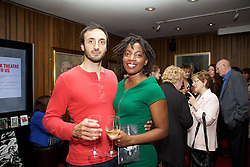19/08/2015<br /> Pictured at the opening night of 'The Bog of Cats' by Marina Carr at The Abbey Theatre were Cormac O'Brien and Esosa Ighodaro.