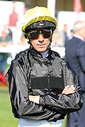 A determined FRANKIE DETTORI in the Parade Ring before winning The Group 2 Magners Rose Doncaster Cup Stakes over 2m 2f (£100,000) on STRADIVARIUS during the third day of the St Leger Festival at Doncaster Racecourse, Doncaster, United Kingdom on 13 September 2019.