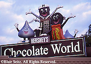 Hershey, PA, Hershey Chocolate World, Entrance Sign