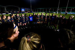 Worcester Warriors Women huddle - Mandatory by-line: Robbie Stephenson/JMP - 11/01/2020 - RUGBY - Sixways Stadium - Worcester, England - Worcester Warriors Women v Richmond Women - Tyrrells Premier 15s