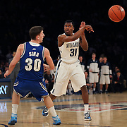 Dylan Ennis, Villanova, in action during the Villanova Wildcats Vs Seton Hall Pirates basketball game during the Big East Conference Tournament at Madison Square Garden, New York, USA. 12th March 2014. Photo Tim Clayton